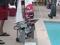 Name: Boat Dolly3.jpg Views: 273 Size: 246.9 KB Description: Out of the water the dolly stand on it's own.
