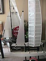 Name: Wing Sail w Jib.jpg Views: 463 Size: 120.9 KB Description: First Jib made from scratch.