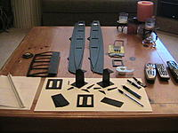 Name: Black Cat parts.jpg Views: 239 Size: 253.5 KB Description: After dry fitting all parts, I assemble the dagger board wells, and formed one wing section as a test.