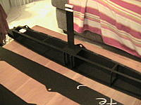 """Name: Black Cat hull daggerboards.jpg Views: 250 Size: 265.8 KB Description: 1/16"""" carbon fiber daggerboards and rudders are retractable."""