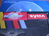 Name: IMG_9217.jpg Views: 69 Size: 122.3 KB Description: Has an extra SkyMaster on the box, next to the SYMA logo
