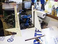Name: VertTail.jpg Views: 725 Size: 257.3 KB Description: Vertical stabs attached.