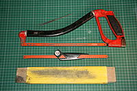 Name: IMG_5480.JPG Views: 229 Size: 369.2 KB Description: Tools used…  Hacksaw - I use a 24tpi metal blade. Sand paper and block Needle file