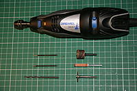 Name: IMG_5484.JPG Views: 220 Size: 288.7 KB Description: Dremel type grinder - very useful tool, and selection of drill/grinding bits,