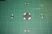 Name: IMG_5512.JPG Views: 249 Size: 329.9 KB Description: Roughen the underside of all plates then clean with alcohol and a soft cloth. Tape out plates (upside down) accurately. This is where the A3 cutting mat comes in very handy.