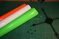 Name: IMG_5543.JPG Views: 238 Size: 265.1 KB Description: Self adhesive fluoro covering, I use Solartrim (trim for RC aircraft). Use scalpel with new blade to trim.