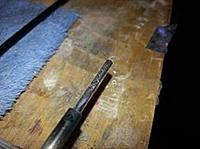 Name: wing rod repair 2.jpg Views: 18 Size: 10.2 KB Description: Thin ca to hold the steel rod in place. Note the score marks on the rod.
