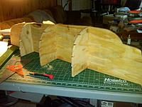 """Name: IMG00067-20111022-1556.jpg Views: 125 Size: 195.1 KB Description: The form built out of 3/8"""" plywood used to form the strakes..."""