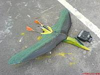 Name: 198203471_x.jpg Views: 113 Size: 114.2 KB Description: scratchbuilt flying wing for my retirement RC life