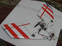 Name: IMG_0061.jpg Views: 180 Size: 149.0 KB Description: rc Boneyard Wing made from foam with laminate to strengthen middle section