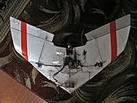 Name: IMG_0421.jpg Views: 137 Size: 215.4 KB Description: rc foam BoneYard 2 flying wing toed-in wing tips and finless