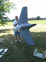 Name: Me-163 1:4 scale primer.jpg Views: 59 Size: 170.4 KB Description: Right before maiden in primer