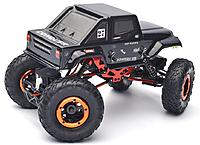 Name: 18th HSP- original body.jpg Views: 11 Size: 453.4 KB Description: This was the 1:18 HSP crawler with original Jeep body and pathetically cheap tires. It was in dire need of a meaner look and better treads.