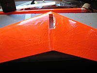 Name: IMG_0078.jpg Views: 99 Size: 117.5 KB Description: Sprayed M77 adhesive and carefully placed Ultracote, one side at a time.  I smoothed the Ultracote from the center of the root area out to the wingtip.