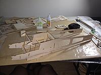 Name: photo 2 (4).jpg Views: 106 Size: 98.9 KB Description: Putting together the sides of the fuselage in the center section.