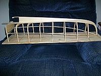 Name: lob. boat #2 006.jpg Views: 142 Size: 265.8 KB Description: Frames and keel glued to build board. Shears installed.