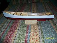 Name: Lob. boat #2 021.jpg Views: 102 Size: 289.9 KB Description: Side view of finished hull.