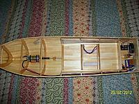 Name: Lob. boat #2 022.jpg Views: 126 Size: 294.1 KB Description: Top view of finished interior with motor and electronics installed.