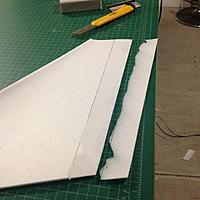 Name: IMG_6340.jpg Views: 16 Size: 63.0 KB Description: Rough cut chamfer on trailing edge of wing skin
