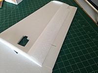 Name: 043.jpg Views: 25 Size: 68.8 KB Description: Add aileron doubler, trim and sand