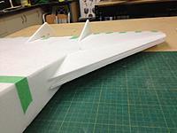 Name: V-Dart 027.jpg Views: 115 Size: 66.8 KB Description: I left the wing leading edge unglued for now