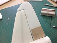 Name: MZ 011.jpg Views: 110 Size: 59.2 KB Description: I added 1 mm ply to both sides of the rudder, also doubled each side of the stabilizer with 3 mm Depron