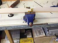 Name: 042.jpg Views: 24 Size: 79.8 KB Description: Bolt is long enough to rest on the open vice ... balance and add tape to the lighter blade, repeat for the other blade.