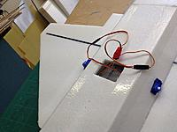 Name: 010.jpg Views: 52 Size: 87.6 KB Description: Had to cut a hole on the bottom to feed the servo wires forward