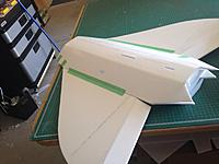 Name: 061.jpg Views: 32 Size: 68.5 KB Description: AT THIS POINT I SHOULD HAVE ADDED THE FRONT FUSELAGE before fitting the top and bottom rear fuselage panels