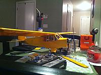 Name: photo (2).jpg Views: 107 Size: 152.3 KB Description: Mounting the motor..used an old tower FM radio on this one as I have a buddy box system compatible to use the plane as a trainer for my brother.