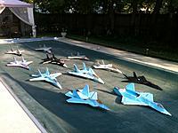 """Name: 5EZP 3.jpg Views: 363 Size: 133.8 KB Description: The """"Five Easy Piece"""" Squadron of Park-Jets 6 July 2012"""