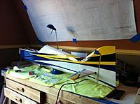 Name: fleet2Build023.jpg Views: 73 Size: 88.0 KB Description: Working on a pattern balsa arf plane