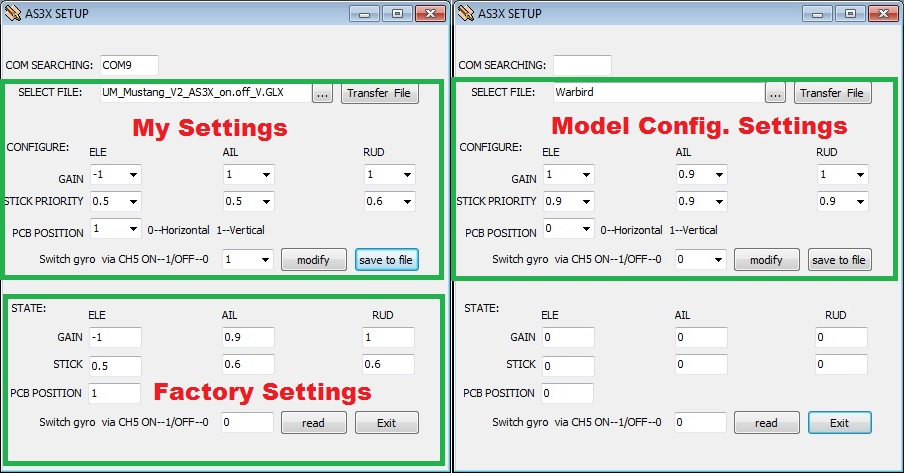 As3x Advanced Prorgamming Amp Settings Rc Groups
