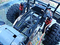 Name: DSCN5415.JPG Views: 463 Size: 244.9 KB Description: Battery tray modified and moved further forwards, sitting above the front axel.