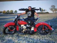 Name: my Harley and Lancaster.jpg
