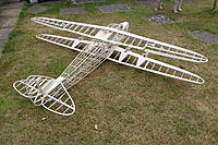 Name: 031.jpg Views: 24 Size: 1.16 MB Description: Ailerons cut free and finished off, covering supports for the nacelle structure done.