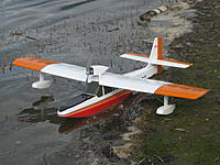"""Name: IMG_2056.jpg Views: 44 Size: 790.1 KB Description: 152. This is Ivan's latest version of his Lakemaster, 48 span wing taken from his Grasshopper design and with a 450 motor installed. """"It's a really fun to fly model now"""" he says."""