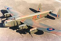 """Name: Lancasterparked.JPG Views: 37 Size: 44.5 KB Description: 167. Ivan's Lancaster, from 1996. 103"""" span, 12.6 lbs weight."""