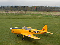 """Name: 168 Lanny Chipmunk.jpg Views: 6 Size: 6.02 MB Description: 168. Lanny Kalnin from Langley BC maidened his 30-month project on 16 April 2019.  The Chipmunk was his first scratch build and """"is one very nice flying airplane"""""""