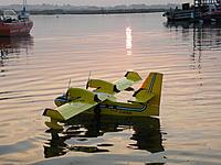 Name: 22 till the sun goes down.jpg Views: 195 Size: 203.5 KB Description: First flight of the balsa version, Christchurch harbour