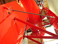 Name: P1010246.JPG Views: 215 Size: 710.7 KB Description: The aileron rods were just barely long enough. Too bad they didn't have them angle over like the N braces. The real Waco does.  I'm also thinking the rods should have gone tailing edge to trailing edge on the ailerons. Seems to fly ok though