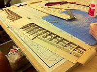 Name: wing with future alerons.jpg Views: 641 Size: 113.7 KB Description: Finished wing with ailerons made out of trailing edge balsa stock