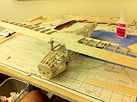 Name: wing on fuse.jpg Views: 654 Size: 119.3 KB Description: Fitting the wing on the fuselage.  Measure tips to tail, all good!