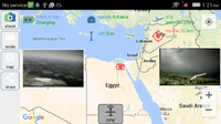 Name: Video Streaming on MAP.png Views: 38 Size: 267.3 KB Description: Image on the left is the video, while the right is the camera snapshot. A camera icon is placed on the map showing image capture location.