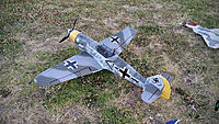 Name: All-Done.jpg Views: 292 Size: 435.9 KB Description: FMS Bf109 F (snow version) repainted to a more fitting late war scheme.