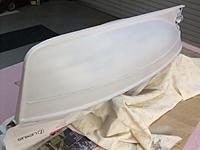 Name: Hellen-Hull-First Undercoat.JPG Views: 145 Size: 79.8 KB Description: Rubbing strakes fitted and grey undercoat completed.