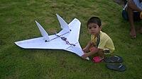 Name: 14607937_658948044282810_545406947_n.jpg Views: 93 Size: 40.7 KB Description: My friend made the 110cm wingspan version for slow flying, and with his son in this photo.