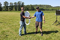 Name: IMG_2978.jpg Views: 130 Size: 177.2 KB Description: Rick presents the victor with the trophy, courtesy of Adam.