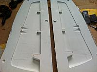 Name: IMG_1140.jpg Views: 202 Size: 176.7 KB Description: Rudder molds came out perfect and very easy to get the plug out.  Just need cleaning and waxing up ready for the first part tomorrow.