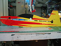 Name: IMG_7150.jpg Views: 54 Size: 170.3 KB Description: The covering is easier. before assembling the fuse to the wing. Also light colors go on first then add the dark colors